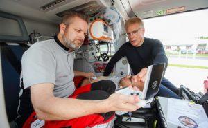 Ultraschallgeräte in Rettungshubschraubern können Leben retten